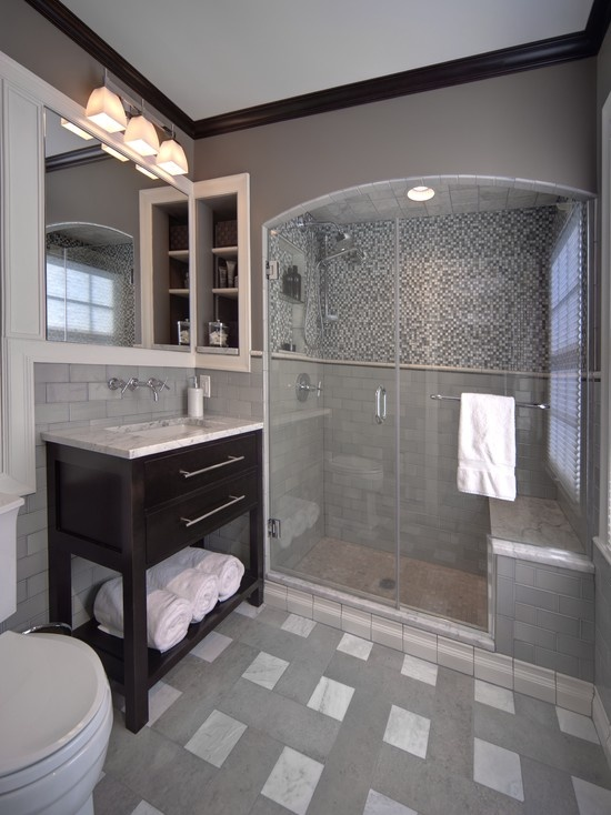 grey and white bathroom tile 29 gray and white bathroom tile ideas and pictures 23283