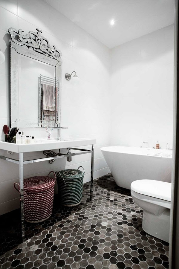 Awesome We Adore This White And Grey Bathroom Complete With Lavish Basin