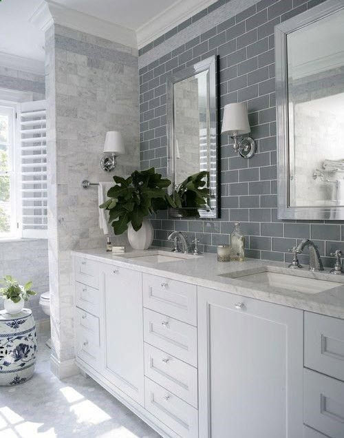 Gray And White Bedroom: 28 Grey And White Bathroom Tile Ideas And Pictures