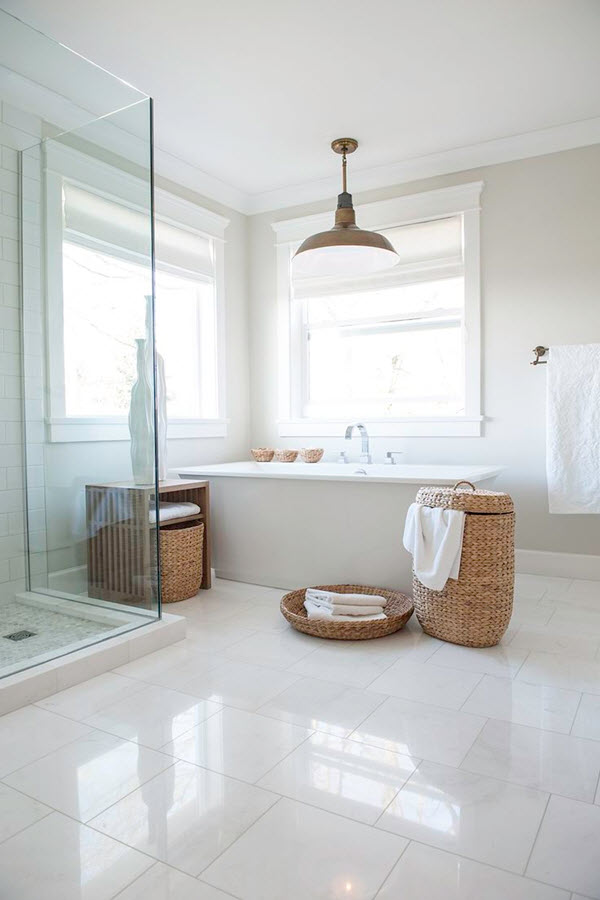 18 Large White Bathroom Floor Tiles Ideas And Pictures 2019