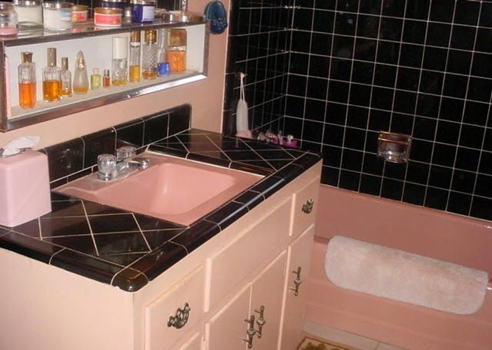 33 Pink And Black Bathroom Tile Ideas And Pictures 2019