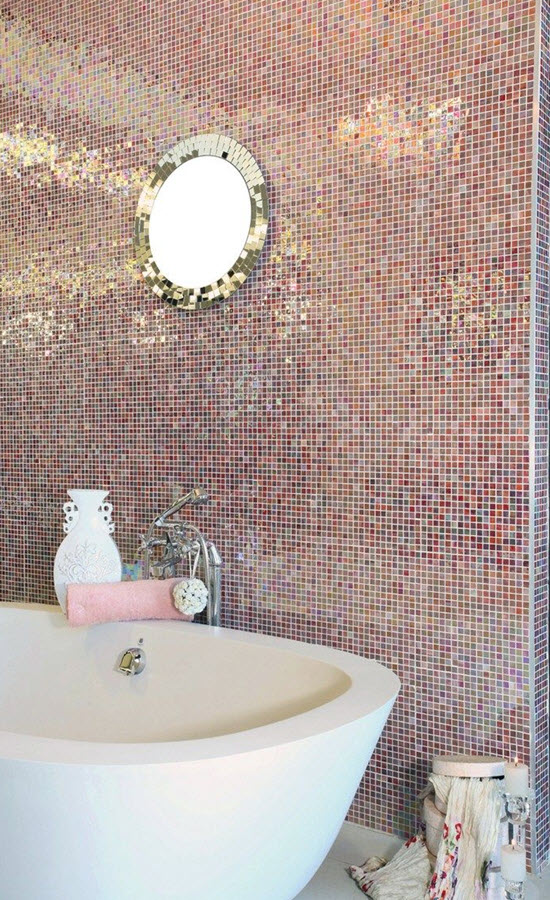 pink tile bathroom 33 pink mosaic bathroom tiles ideas and pictures 13976