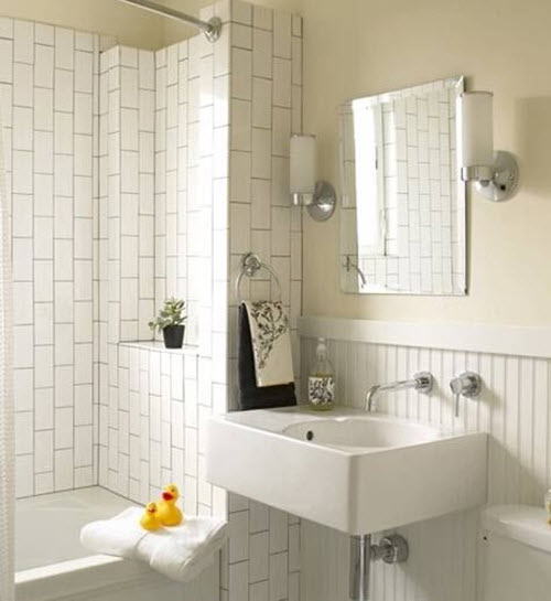 Beautiful 38 Plain White Bathroom Tiles Ideas And Pictures