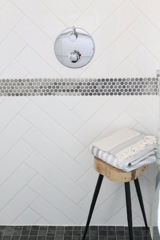 Amazing If You Want To Change The Look Of Your Bathroom  Install Tile Is $13sf, With Most Homeowners Spending Between $4sf To $55sf A Timeless Look That Will Never Go Out Of Style Is Black And White However, That Doesnt Mean It Has To Be Plain