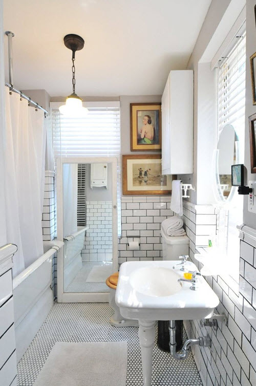 Beautiful Rooms Are Adjacent To Each Other Connected By 3x5 Hall Can I Use A Different Tile In Bath Than The Hallkitchen Thought Of A Plain White Basketweave In Bath And A