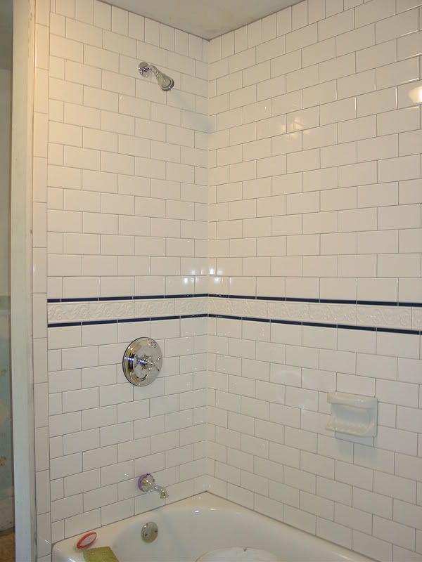Installing bathroom tile around tub