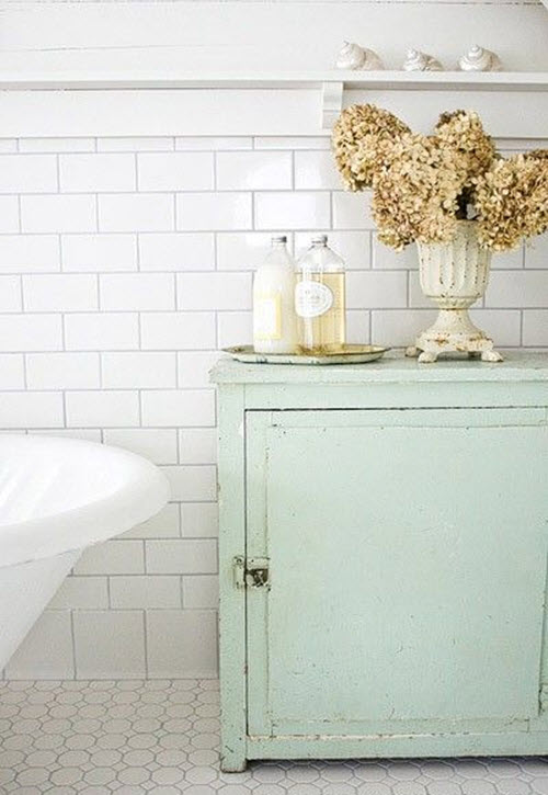 Plain White Bathroom Tiles