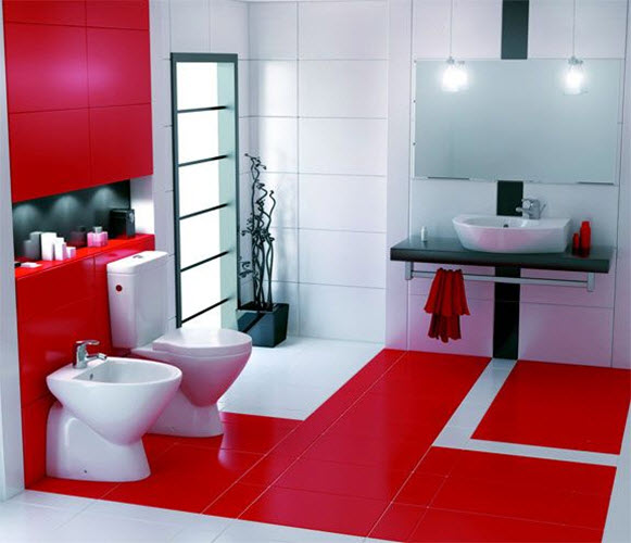 Red Bathroom Floor Tiles 12 13 14 15 16