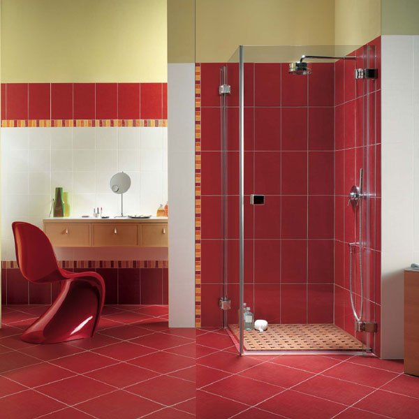 31 Red Bathroom Floor Tiles Ideas And Pictures 2019