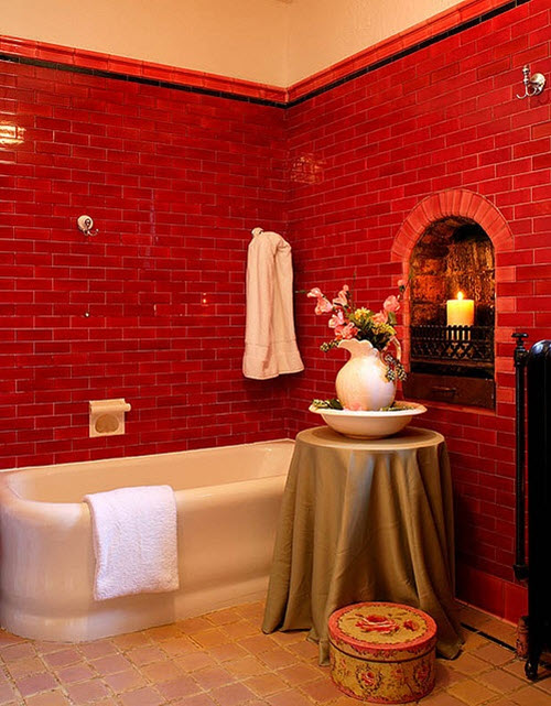 Red Bathroom Tile 39