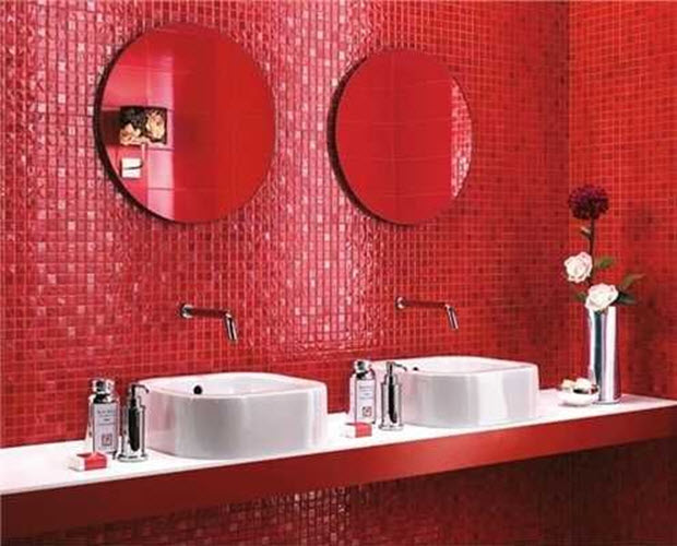 Red Bathroom Wall Tiles 23 24 25 28 29