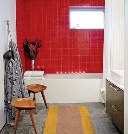 Bathroom Tiles Red 34 red bathroom wall tiles ideas and pictures