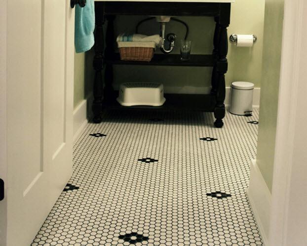 31 Retro Black White Bathroom Floor Tile Ideas And