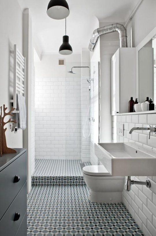 31 retro black white bathroom floor tile ideas and pictures 25825