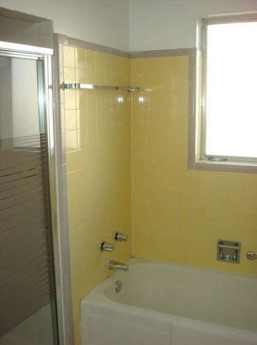 34 retro yellow bathroom tile ideas and pictures yellow tile bathroom decorating ideas 1 wall decal