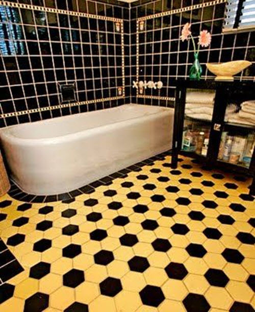 Retro Yellow Bathroom Tile 32 33 35 36