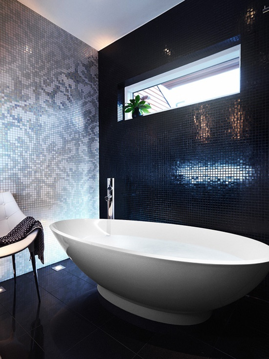 31 Shiny Black Bathroom Tiles Ideas And Pictures