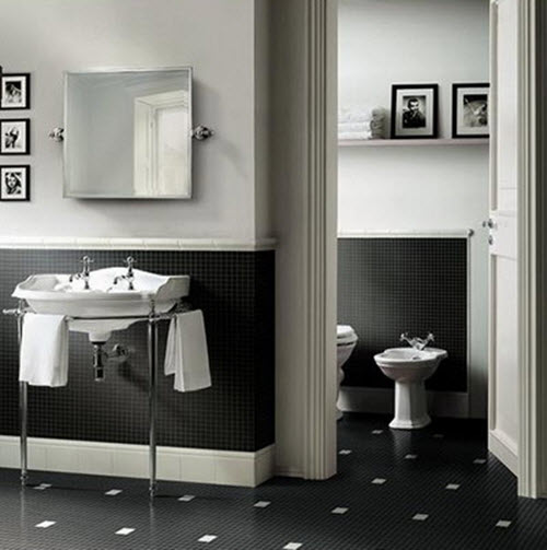 small black and white bathrooms 27 small black and white bathroom floor tiles ideas and 24199