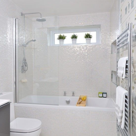 35 small white bathroom tiles ideas and pictures for Small bathroom tile ideas photos