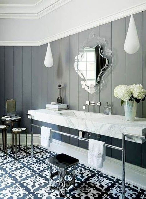 21 Victorian Black And White Bathroom Floor Tiles Ideas