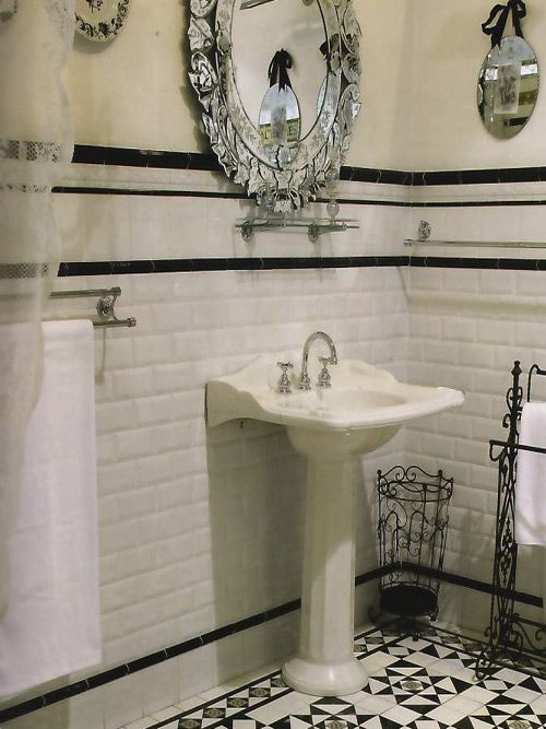 21 victorian black and white bathroom floor tiles ideas for Bathroom ideas edwardian