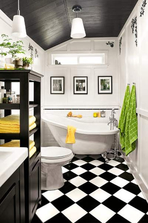 black and white bathroom tile 35 vintage black and white bathroom tile ideas and pictures 31615