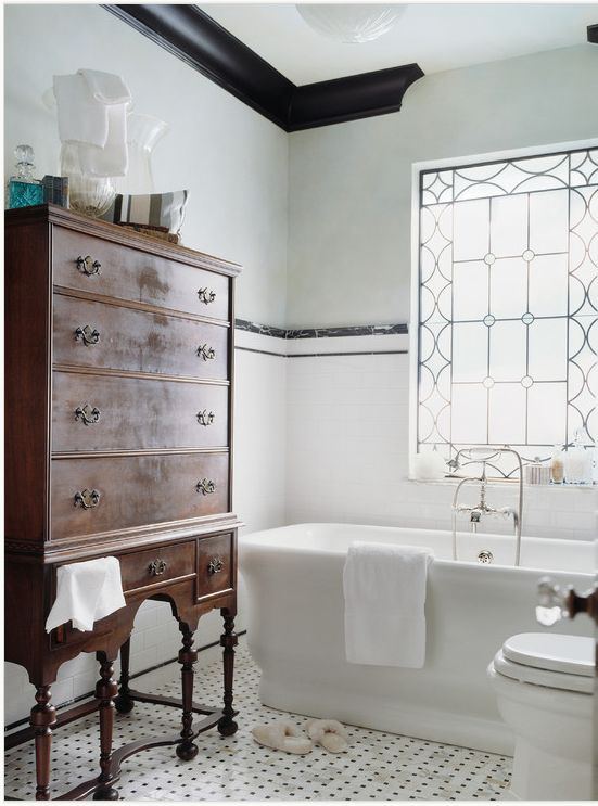 Vintage Tile Bathroom Ideas Part - 24: Vintage_black_and_white_bathroom_tile_31.  Vintage_black_and_white_bathroom_tile_32.  Vintage_black_and_white_bathroom_tile_33