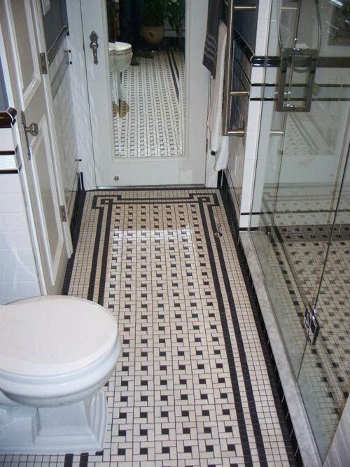 vintage bathroom floor tile 35 vintage black and white bathroom tile ideas and pictures 21216