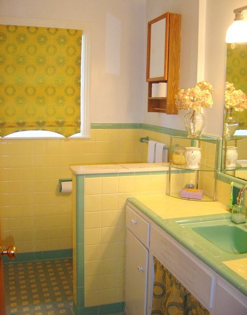 33 vintage yellow bathroom tile ideas and pictures 2020
