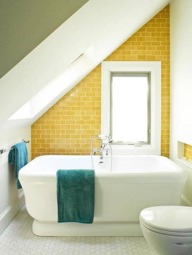 33 vintage yellow bathroom tile ideas and pictures for Bathroom ideas yellow tile