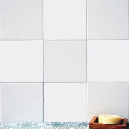13 white bathroom tile stickers ideas and pictures for Bathroom tile stickers