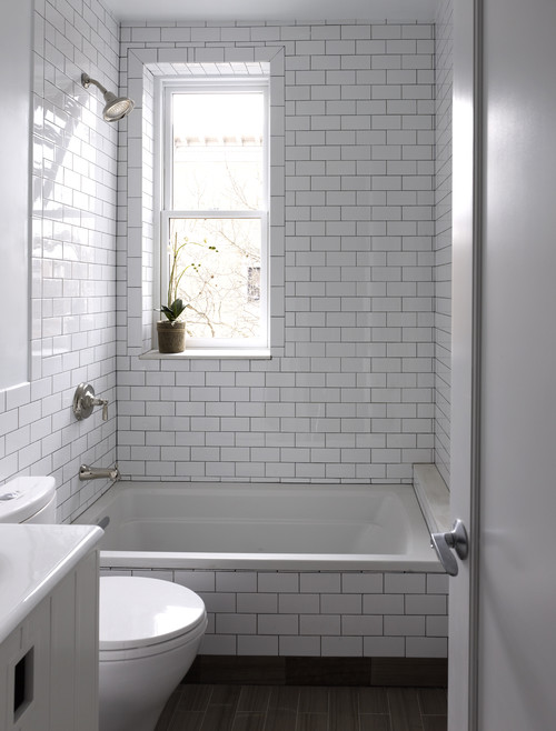 White Bathroom Tile With Grey Grout 2 3 5 8