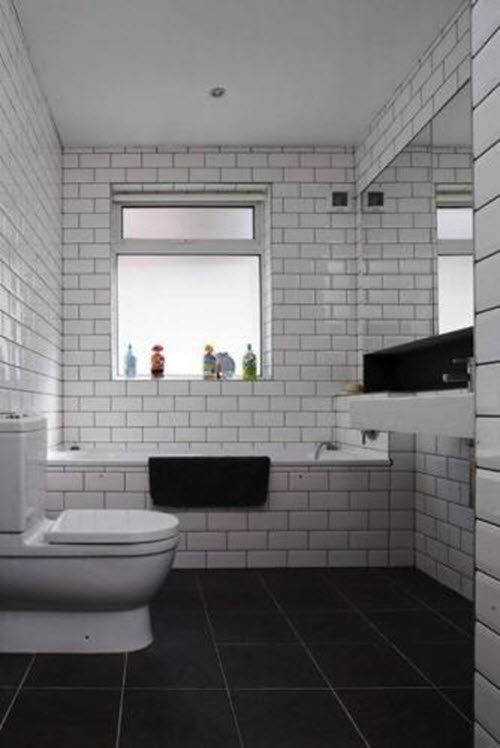 White Bathroom Tile With Grey Grout 23 24 26
