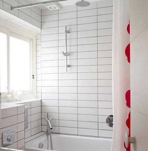 White Kitchen Tiles Grey Grout: 26 White Bathroom Tile With Grey Grout Ideas And Pictures