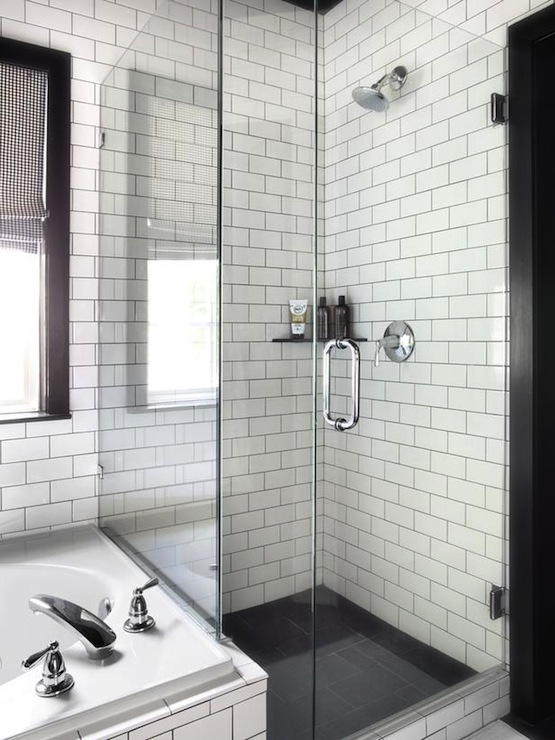 White Bathroom Tile With Grey Grout 3 5