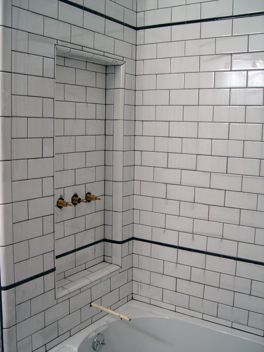 Creative Some Inspiration Just Look At The White Bathroom Tile With Grey Grout