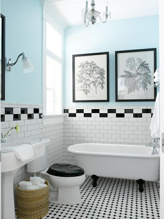 Bathroom Tiles Black And White Ideas 22 white bathroom tiles with border ideas and pictures