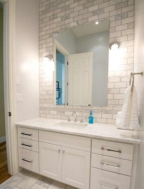 Innovative Source White Amp Gold Design Glam Master Bathroom With Gray Walls Paint