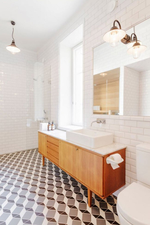 Beautiful Black And White Tile Bathrooms Are A Popular  12 Places To Find 4 X 4 Ceramic Tiles In A Wide Variety Of Colors 4 Pams Sisterinlaw Amy Used Honed Marble Flooring To The Bathroom In Her 1930s Romantic Revival House Yes, She