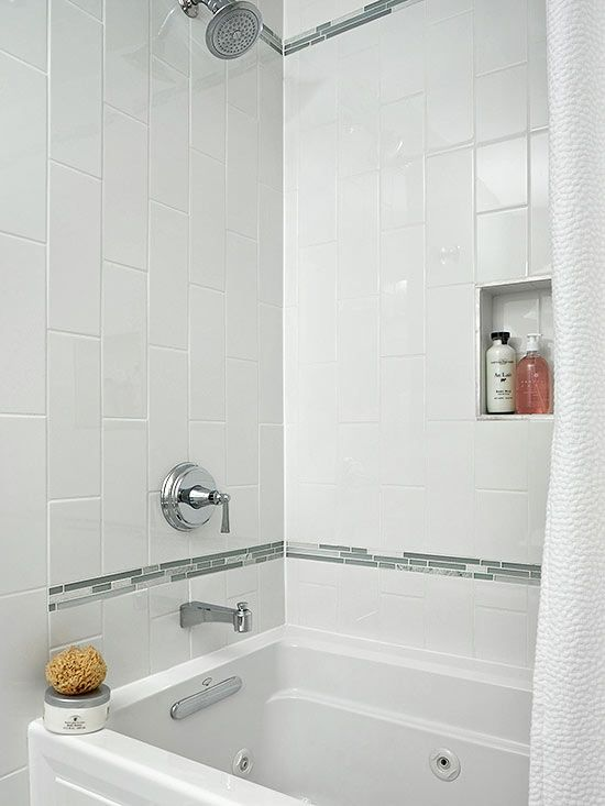 White Ceramic Bathroom Tile 30 1 4