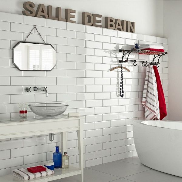 Cool 15 White Gloss Bathroom Floor Tiles Ideas And Pictures