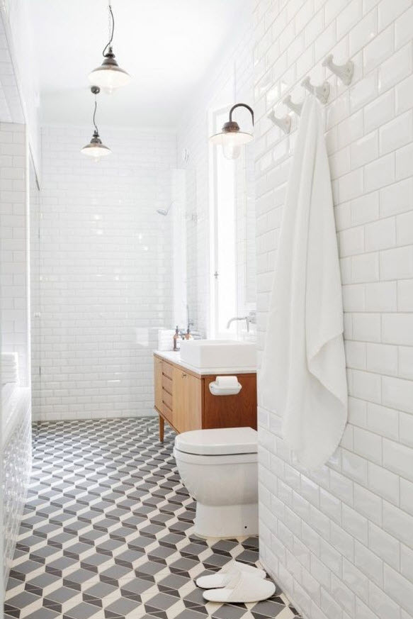 Simple  Shower Curtain Liven The Wood Paneling In This Teens Bathroom