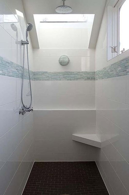 Gray Subway Tile Bathtub