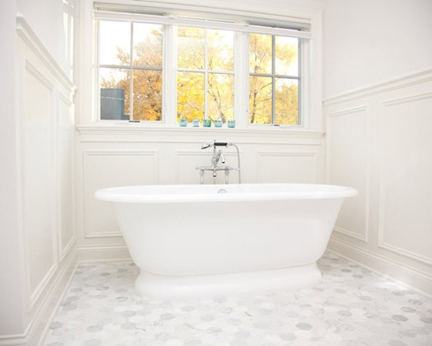 22 Fantastic White Hexagon Tiles Bathroom