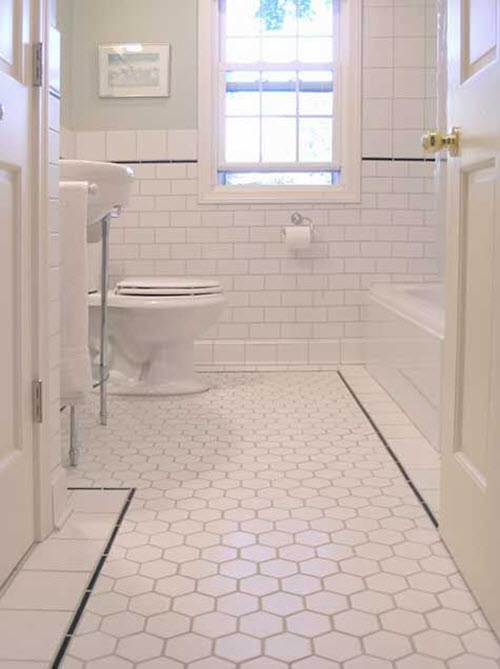 hexagon bathroom floor tiles 34 white hexagon bathroom floor tile ideas and pictures 18706