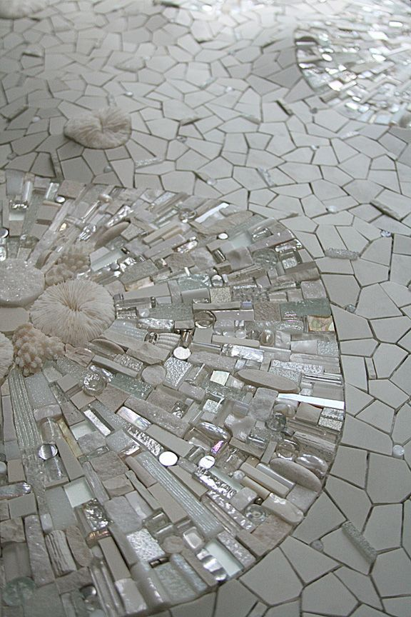 White Mosaics On The Floor Of Your Bathroom And Make It One Of A Kind
