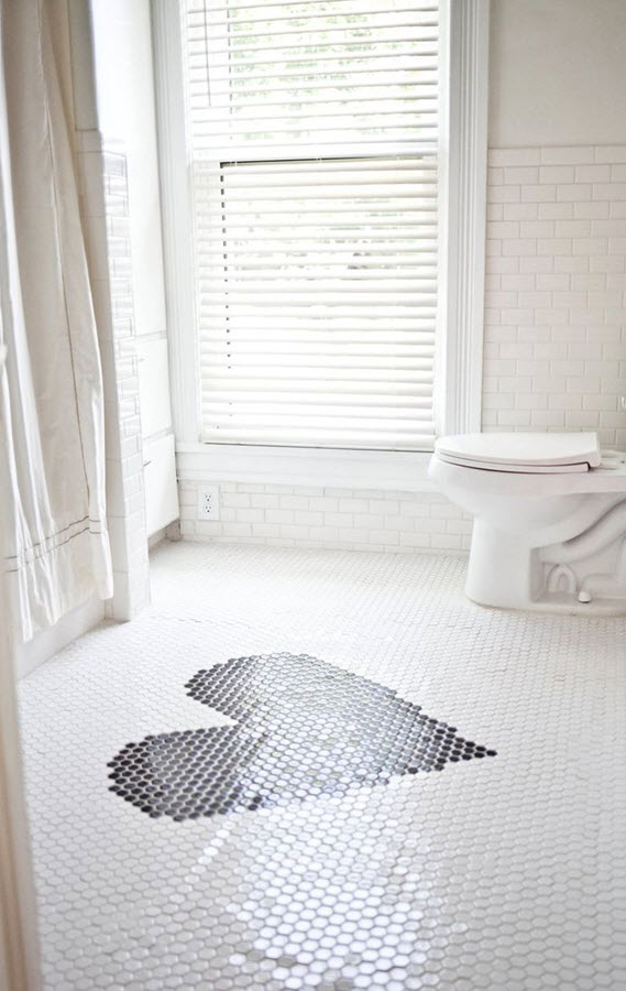 Dark Bathroom Floor Tile Ideas Inside Small Bathroom With Plain Wall
