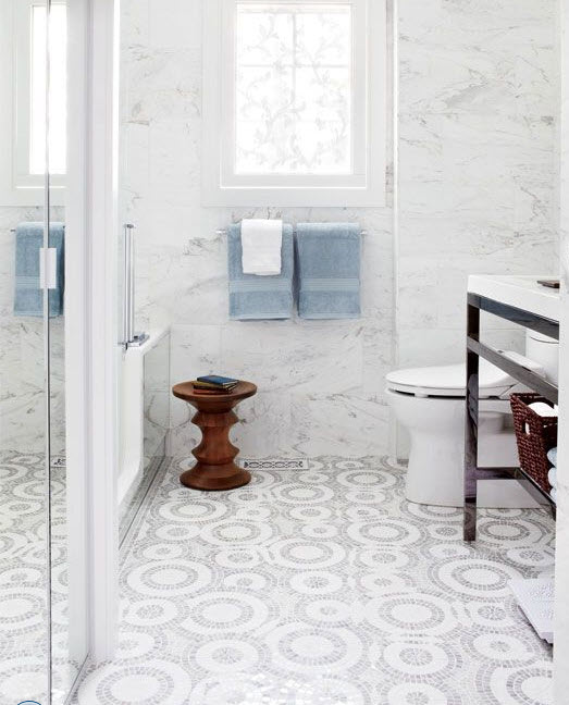 white_mosaic_bathroom_floor_tile_8