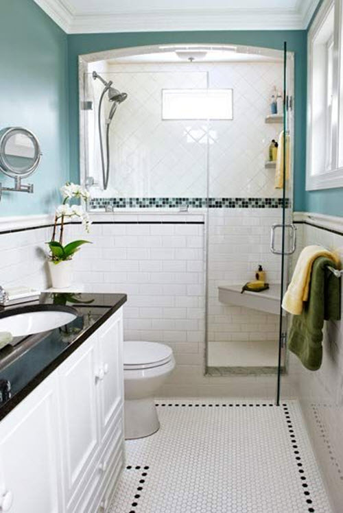 30 white mosaic bathroom floor tile ideas and pictures 2020
