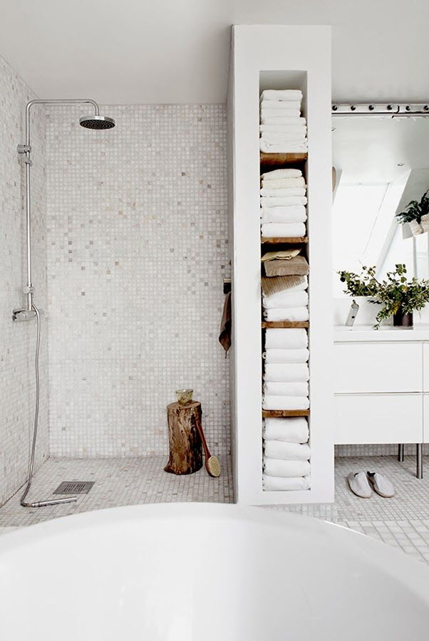 28 white mosaic bathroom tile ideas and pictures